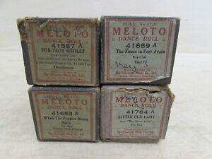 4X-Antique-Vintage-Pianola-Player-Pianos-Rolls-Music-Meloto-Various-Fox-Trot