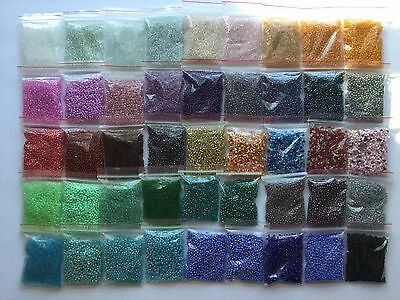 Wholesale Bulk Giant Lot 900g 11/0 Glass Seed Beads 45 Colors CRAZY DEAL