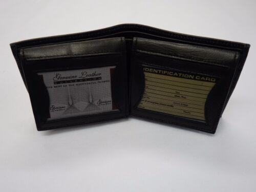 En cuir souple gents Portefeuille avec 18 cartes de crédit emplacements noir grande taille