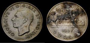 1937-Canada-Silver-Dollar-King-George-VI-Good-VF