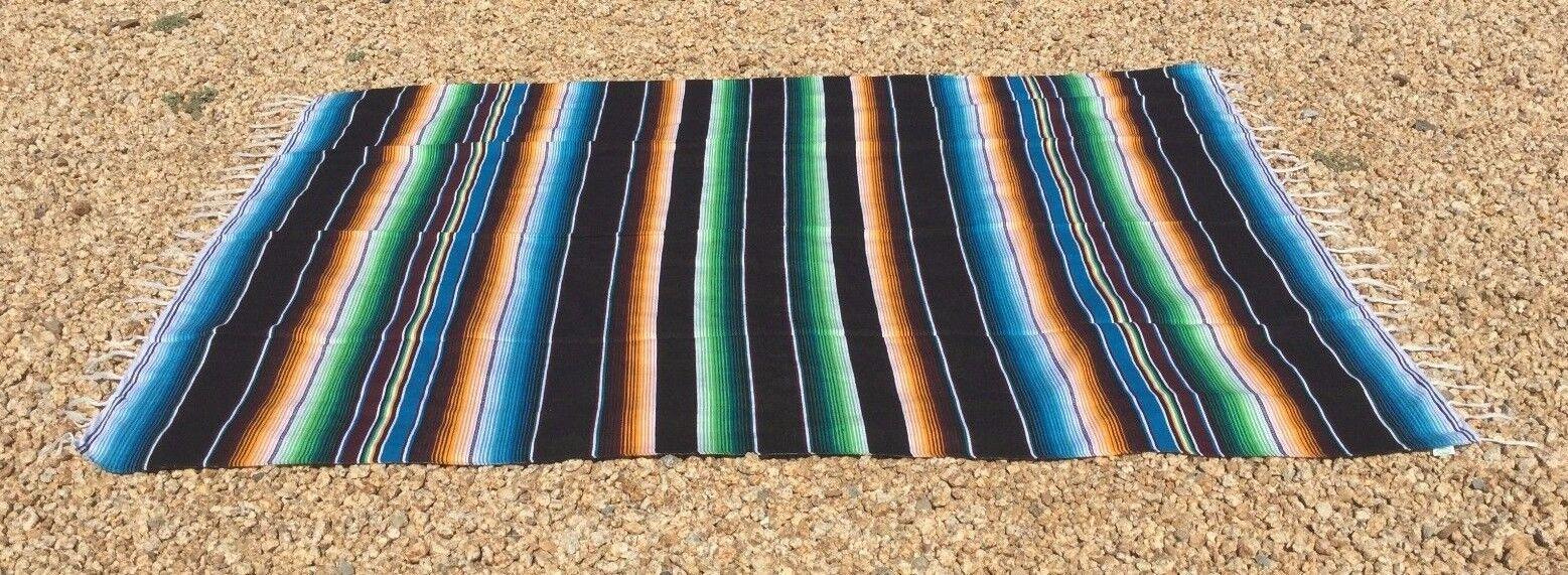 Mexican Blanket Sarape Multi-Color Black #3