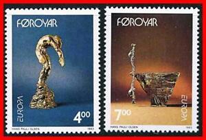 FAROE-IS-1993-EUROPA-CEPT-MODERN-ART-MNH