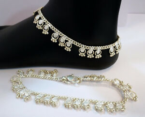 Jewelry & Watches Handmade Unique Designer Pure Silver Anklet Pair Indian Payal 57 Gram Fine Anklets