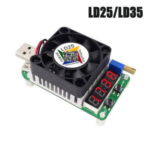Resistencia de carga LD35//LD25 electrónica descarga de batería LED de prueba de interfaz USB