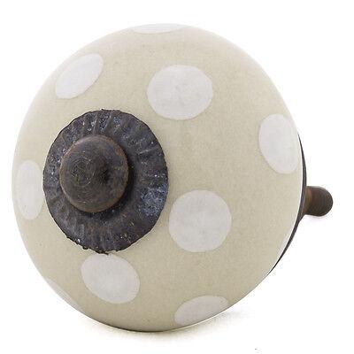 Möbelknöpfe Möbelgriffe Möbelknopf Porzellan Keramik  1022-A R7-5 creme