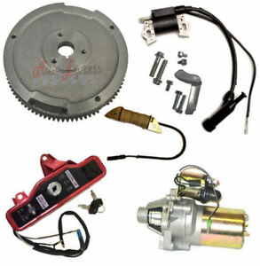 honda gx390 13 hp electric start kit flywheel starter motor key box rh ebay com Honda GX620 Specs 13 HP Honda Engine Repair