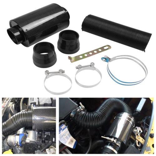 Car Racing Air Filter Box Carbon Fiber Cold Feed Induction Air Intake System Kit