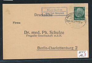 + Bp Bingerbrück...1936 Hindernis Entfernen Stetig 04883 Landpost Ra2 Norheim über... Bad Kreuznach
