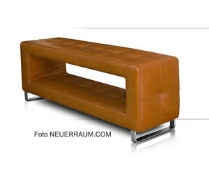Small Leather Corridor Storage Bench Very Stable Real