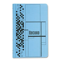 Adams Record Ledger Book Blue Cloth Cover 500 7 1/2 X 12 Pages Arb712cr5 on sale