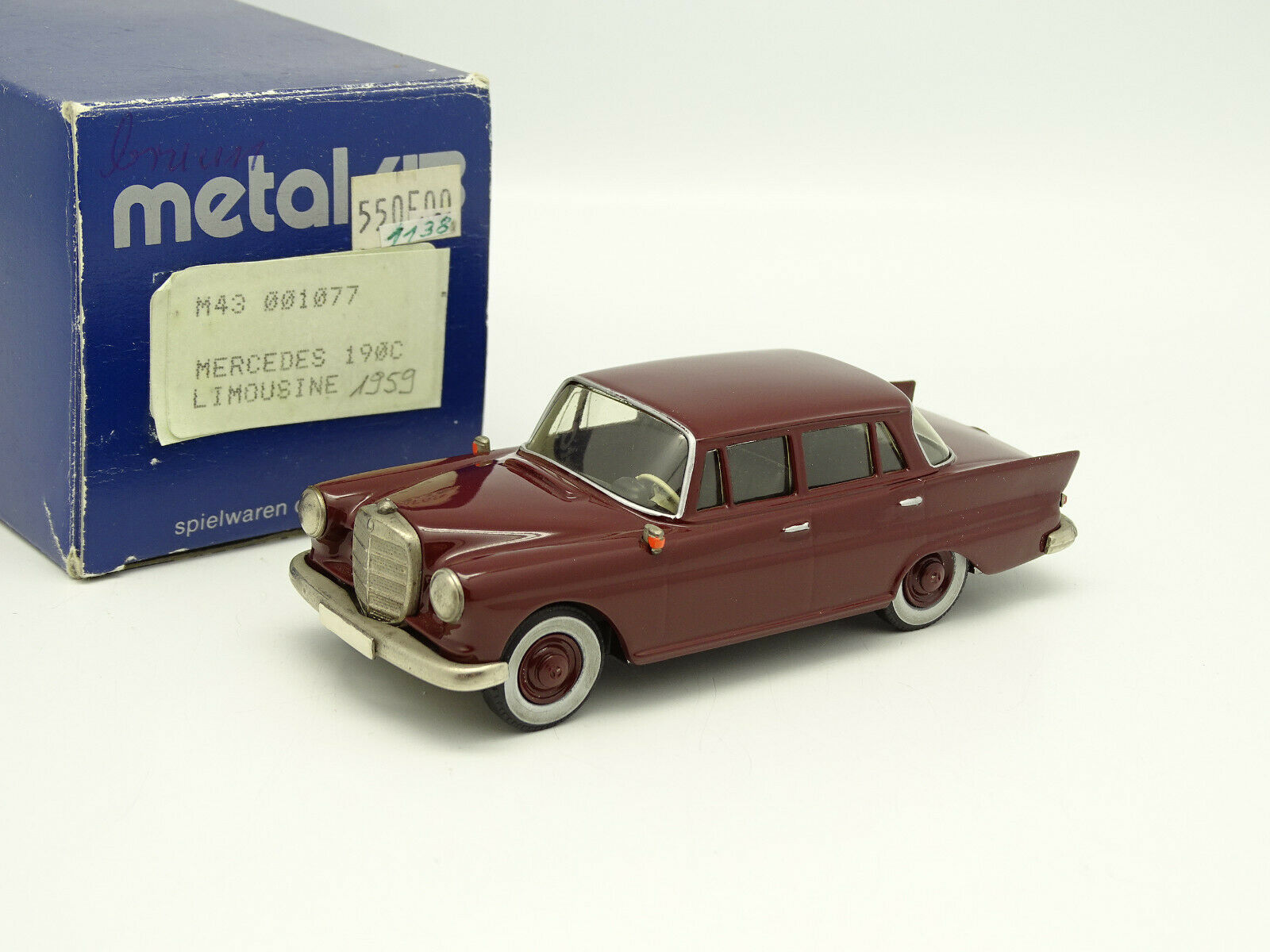 43 metal puzzles Danhausen 1 43 - mercedes 190c red 1959