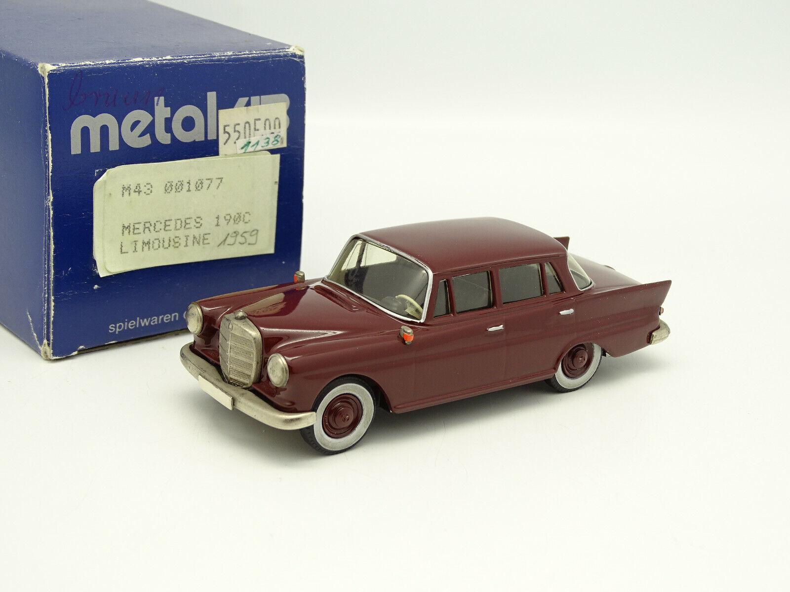Metal 43 Spielwaren Danhausen 1 43 - Mercedes 190 C rot 1959