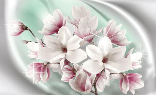 3016 -Deco Orchideen Abstrakt Magnolien Lilien VLIES Fototapete-BLUMEN-DESIGN-