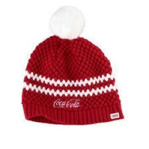 Image is loading COCA-COLA-COKE-KNIT-WINTER-BEANIE-HAT-NEW 080747bf940