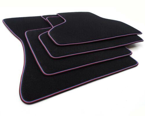 NEU Fußmatten BMW X5 F15 ab 2013 Automatten 4x Zubehör Tuning Webrand Blau Rot
