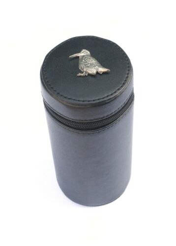 Woodcock Sitting Peg Position Finder Numbered Cups 1-10 Black Leather Case 403