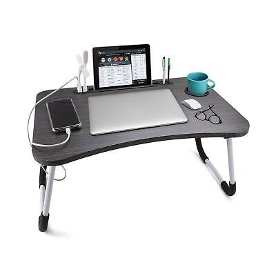 Slendor Laptop Desk Foldable Bed Table, Portable Folding Computer Desk Laptop Notebook Reading Tablet