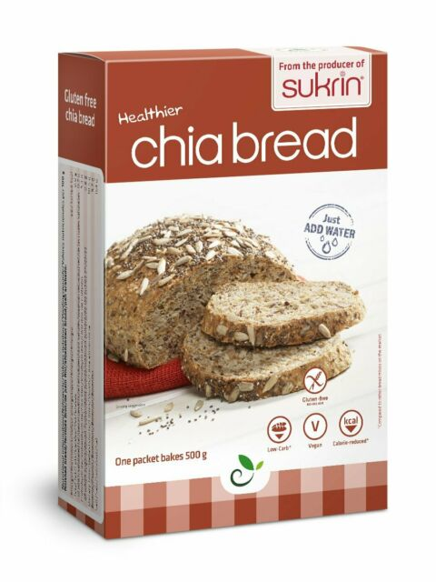 Sukrin Chia and Hemp Low Carb Bread Mix Gluten 250g