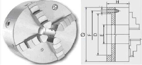 4-Backenfutter ZENTRA Drehfutter 100-125-160-250mm DIN 6350
