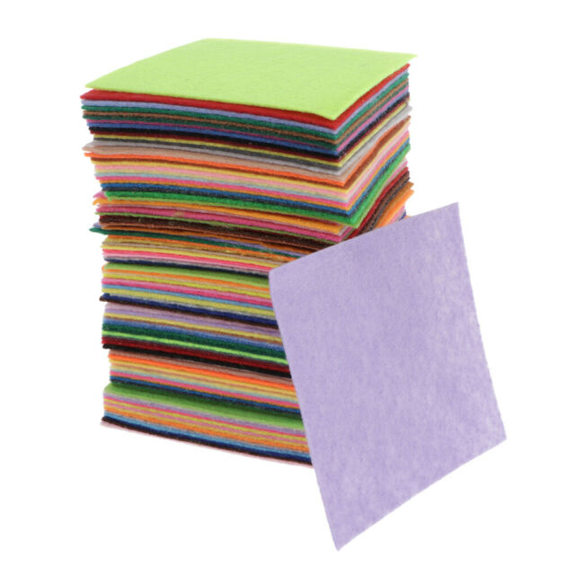 """9/"""" Craft Felt Fabric Material Sold in Squares Pack Assorted Colours"""