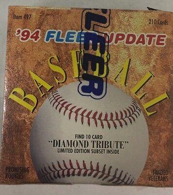 210 cards Alex Rodriguez Rookie! 1994 Fleer Update Baseball COMPLETE FACTORY Set