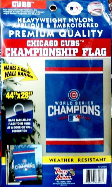 916e6739b74 Chicago Cubs 2016 Champions 28x44 Premium Embroidered Applique Banner Flag