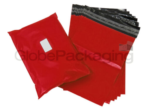"100 x Strong RED 17x24/"" Mailing Postal Postage Bags 17/""x24/"" 24HRS 425x600mm"