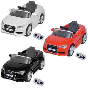 Vidaxl Voiture Electrique Enfants Télécommandée Audi A3 Véhicule Multiolore