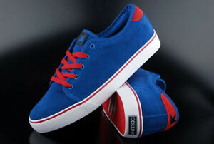 Sneaker True Dekline Santa Fe Bleu Rouge Suede tChQrdsx