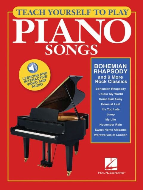 Teach Yourself to Play Piano Songs - Bohemian Rhapsody & 9 More Classics - Book