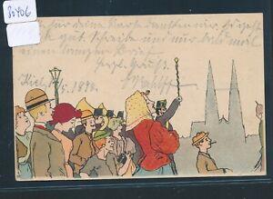 Col Künstler-ak Kiel.. Kiel Zug 37 In Den Spezifikationen VervollstäNdigen 30406 O 1898 Bahnpost Hamburg