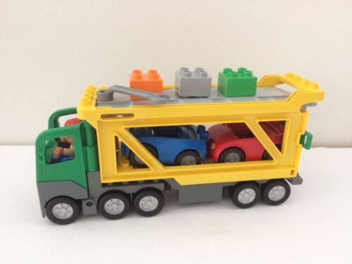 1 von 1 - Lego Duplo® Auto Transporter mit Rampe ( 5684 ) LKW - 2 Auto´s - 1 Fahrer usw.