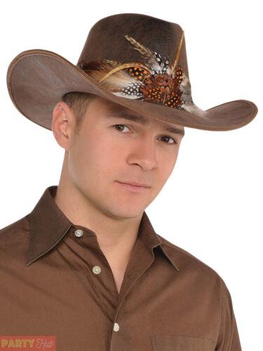Adults Deluxe Cowboy Hat Mens Ladies Western Fancy Dress Accessory
