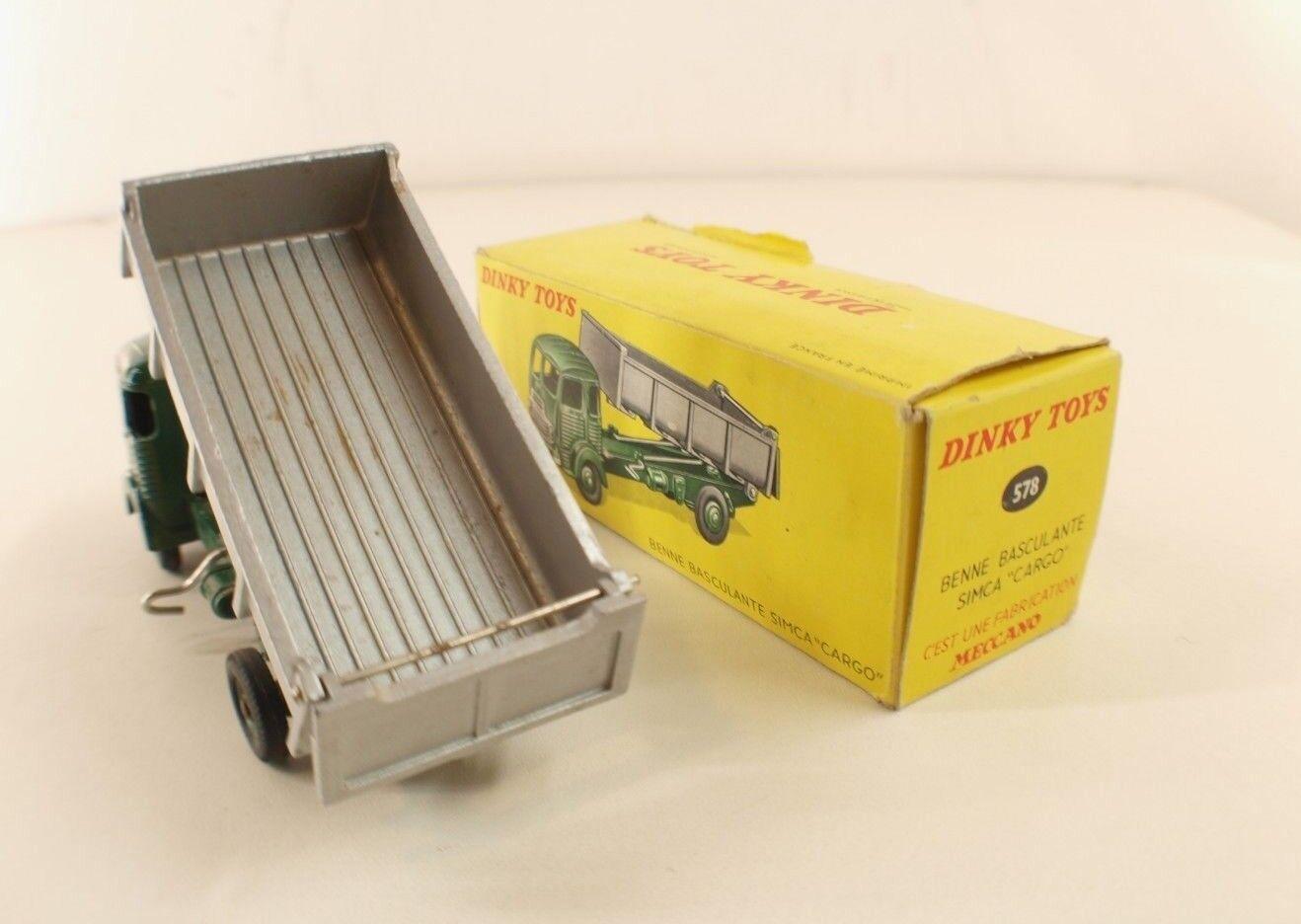 Dinky Dinky Dinky toys F n° 33 B camion Simca cargo benne basculante jamais joué en boite 797d52