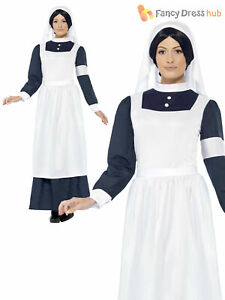 Ladies World War 1 WW1 Nurse Fancy Dress Florence Nightingale Costume Victorian