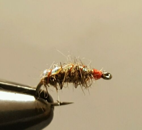 Scuds Size 16 Fly Fishing Flies 12 of Justin/'s Hot Spot Sow Bug