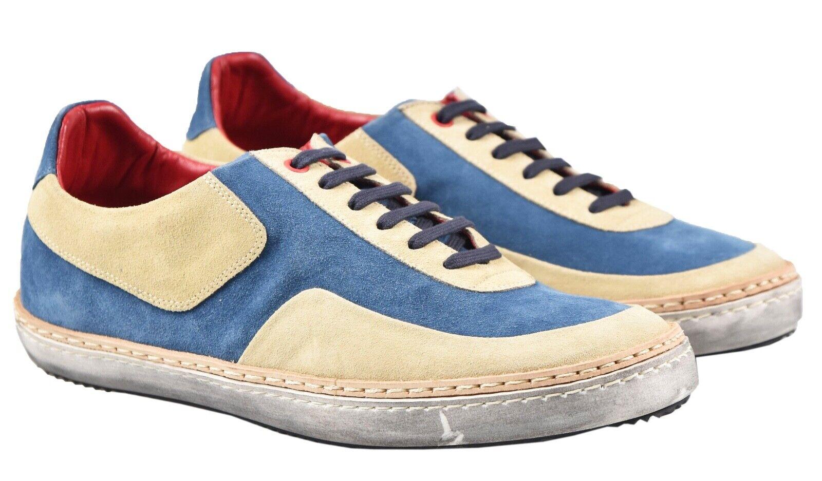 Nouveau KITON paniers Chaussures 100% cuir taille 7 US 40 EU 19O112
