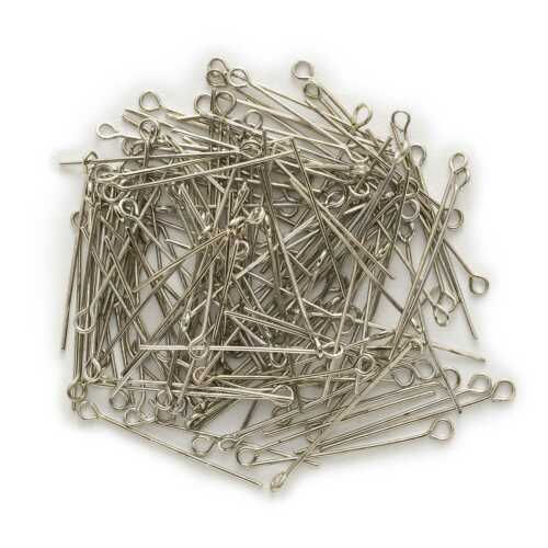 100 Piece 6 Colors Eye Head Pins Findings Jewelry Making Accessories 20-50mm
