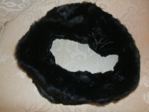 NEW PRIMARK BLACK FAUX FUR SNOOD WARM LOVELY QUALITY SCARF EXTRA WIDE THICK