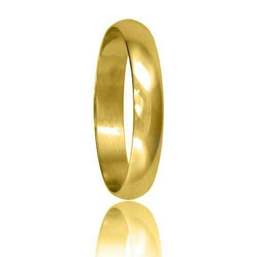 Brand New Hallmarked 18ct Yellow Gold Wedding Ring Band D Shaped
