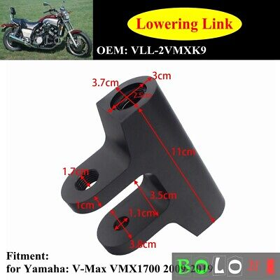 Black Regular Style Lowering Link For Yamaha Star V-Max VMX1700 09-19 Motorcycle