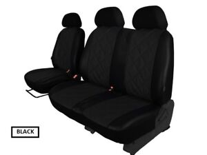 VOLKSWAGEN T5 T28 2003-2015 2+1 ECO LEATHER SEAT COVERS EMBOSSED MADE TO MEASURE