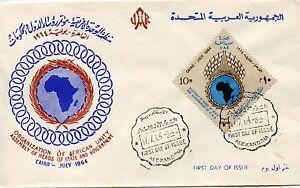 Premier Jour Timbre Egypte N° 606 Assemblee Des Chefs D'etat Au Caire