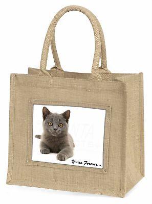 silber blau Katze  dir für immer  Große natürliche jute-einkaufstasche Chris,