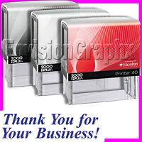 Thank You For Your Business Self Inking Rubber Stamp In Blue Ink P40 Stamper