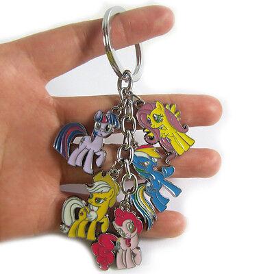 My Little Pony Friendship is Magic PINKIE PIE Fluttershy Keychain Keyring Charm
