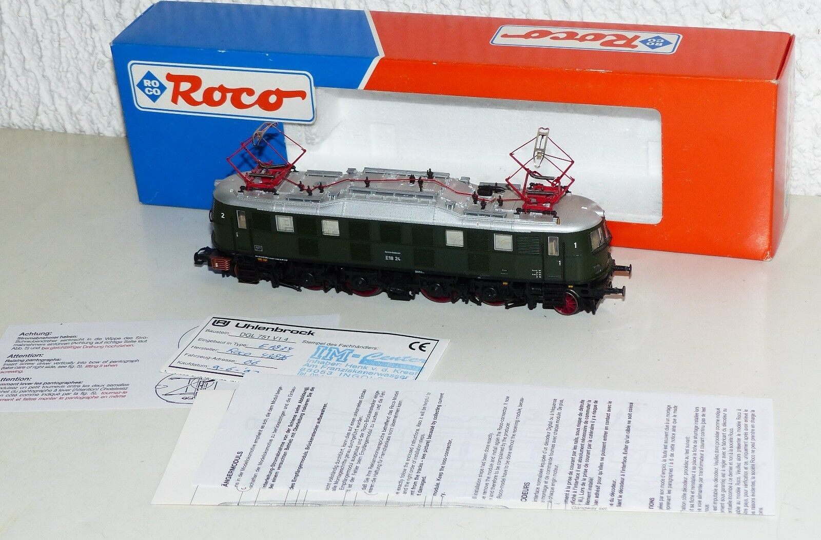 ROCO 43954 E-Lok BR e18 24/e 18 Digital h0 corrente alternata OVP