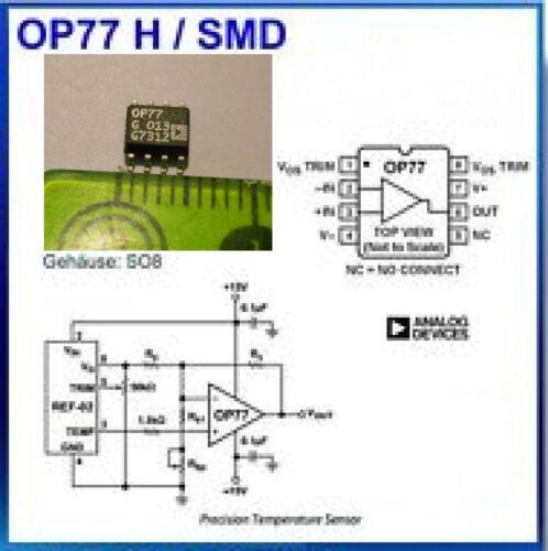 Ampli opérationnel OP77 SO8