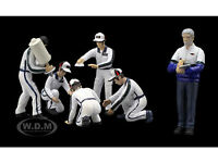 Pit Crew Figurines Set Of 6 Martini Racing 1/43 By Tsm 10ac06