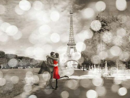 Boulevard of Trees BW Keilrahmen-Bild Leinwand Paris schwarz-weiss Diane Loumer